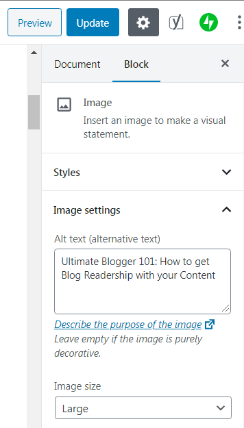 How to SEO Your Blog Post  by adding Alternative Text